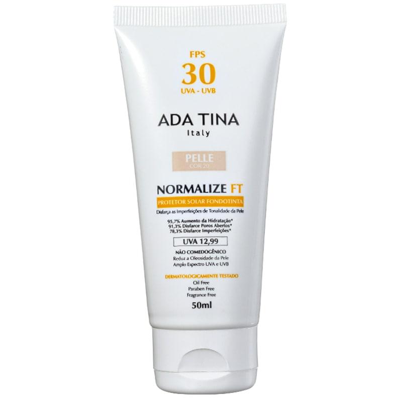 Ada Tina Normalize Ft Fondotinta Pelle Cor 20 FPS 30 - Protetor Solar com Cor 50ml