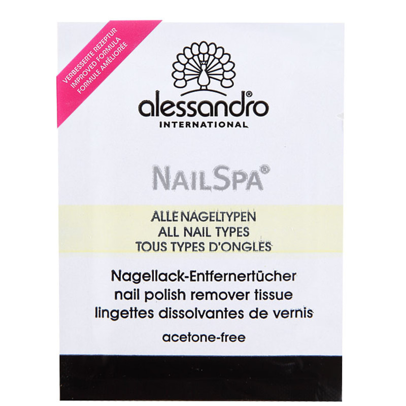 Alessandro International Nail Spa Lotus - Lenço Removedor de Esmalte