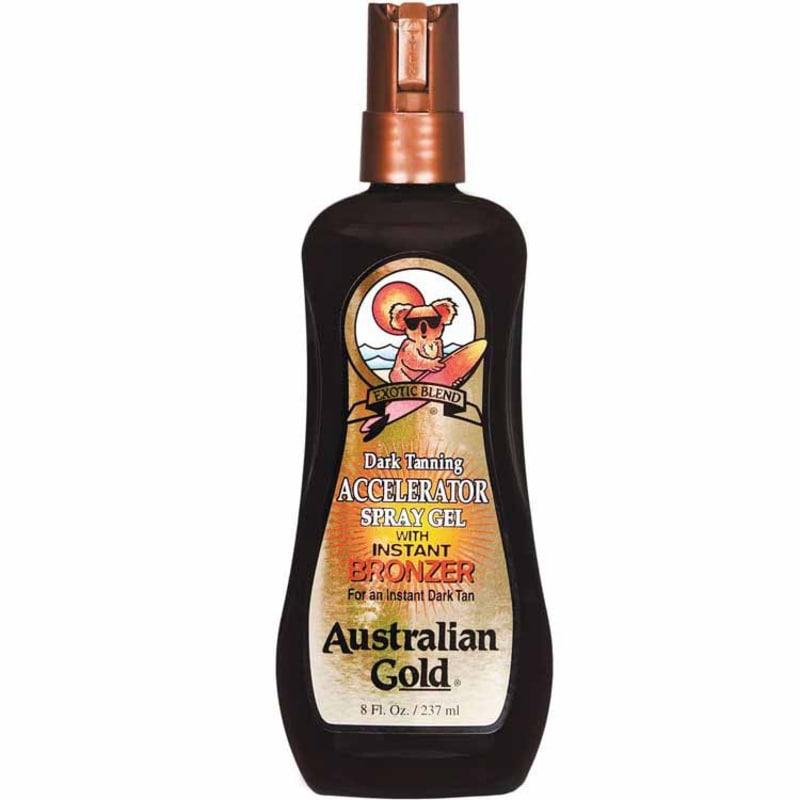 Australian Gold Dark Tanning Accelerator Spray With Instant Bronzer - Spray Bronzeador 237ml