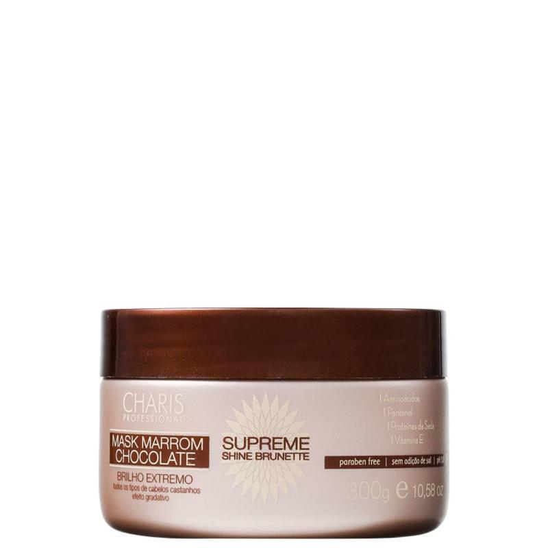 Charis Supreme Shine Brunette Mask Marrom Chocolate - Máscara de Tratamento 300g