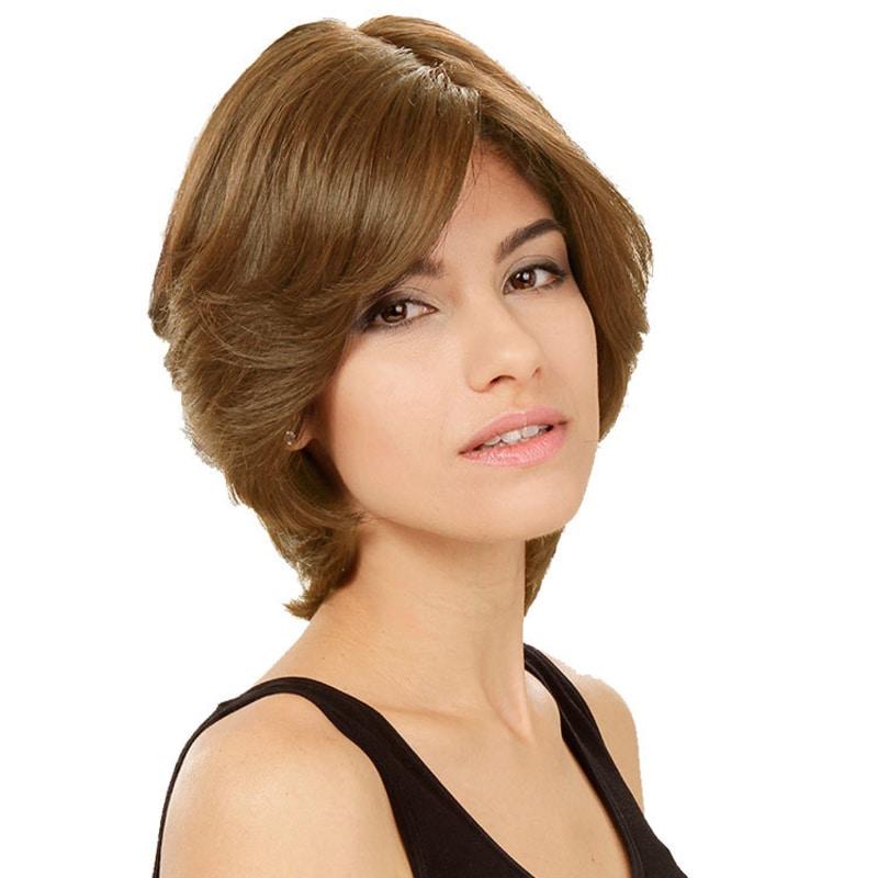 Crown Wigs Amanda Cor Castanho Claro/Louro Médio - Peruca 25cm