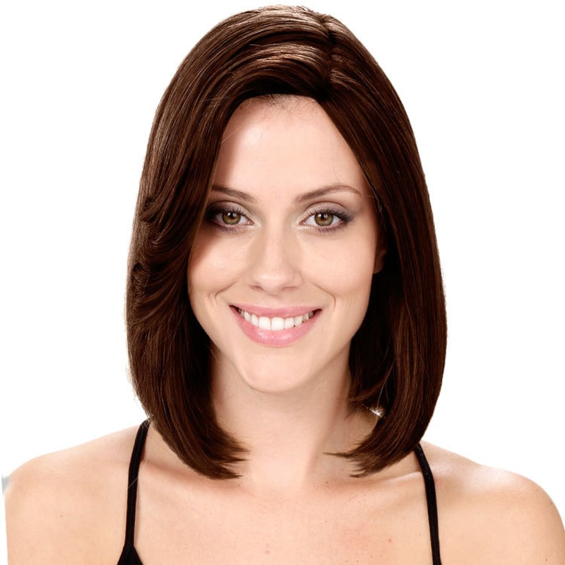 Crown Wigs Bianca Cor Castanho Escuro - Peruca 30cm