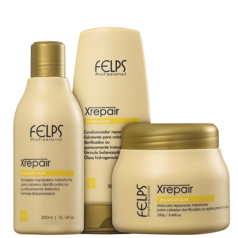Felps Profissional XRepair Bio Molecular Trio Kit (3 Produtos)