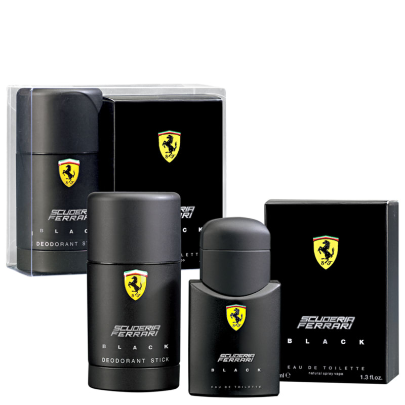 Conjunto Ferrari Scuderia Black Masculino - Eau de Toilette 40ml + Desodorante 75ml