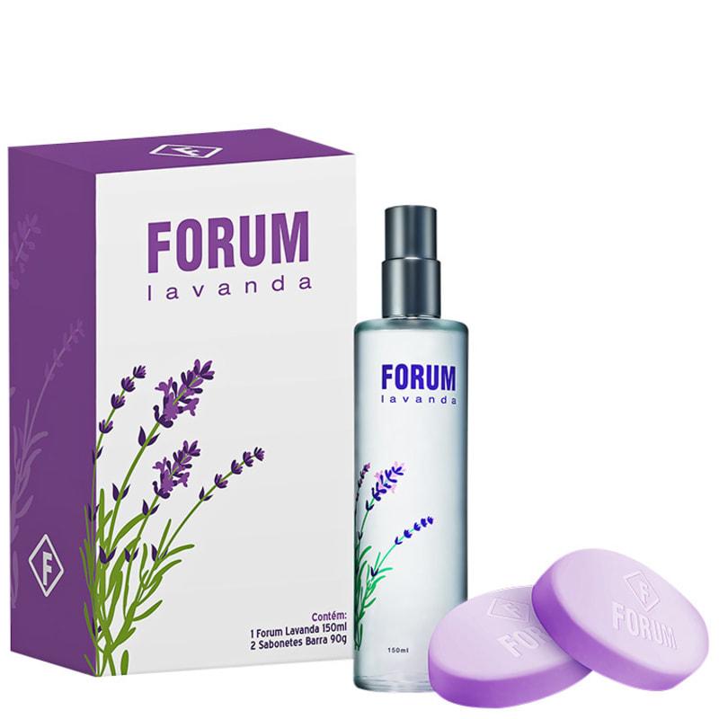 Conjunto Lavanda Forum Feminino - Deo Colônia 150ml + Sabonete 2x 90g