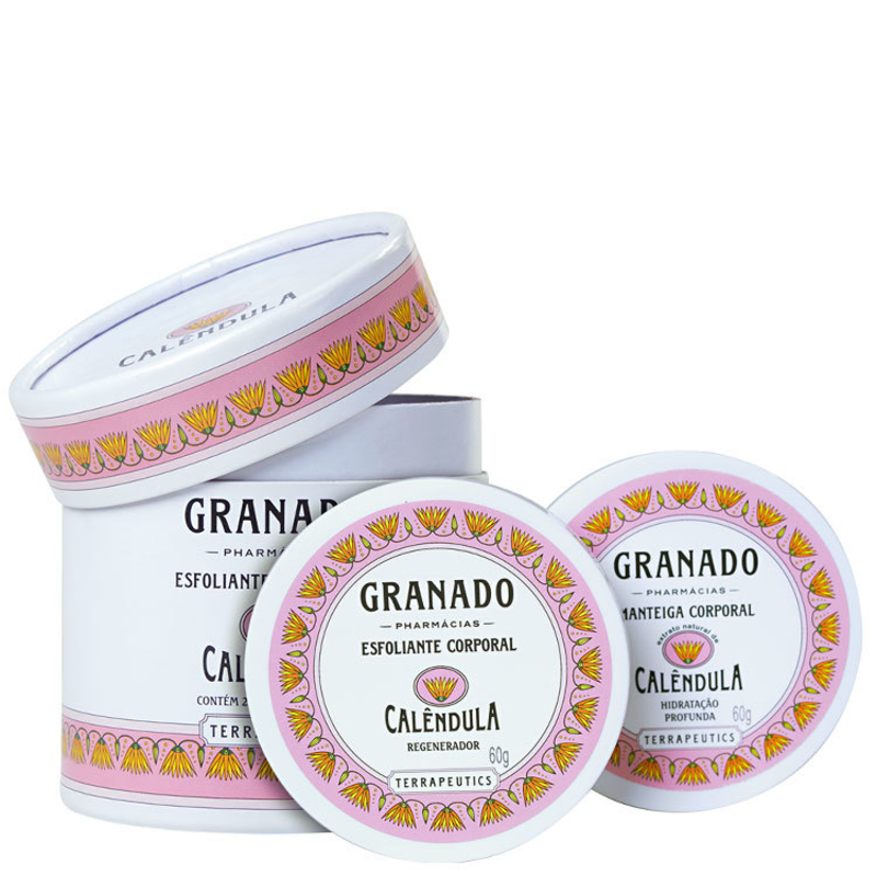 Kit Granado Terrapeutics Calêndula - Esfoliante 60g + Hidratante 60g