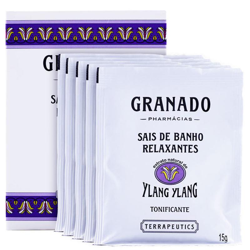 Granado Terrapeutics Relaxantes Ylan Ylan - Sais de Banho 5x15g