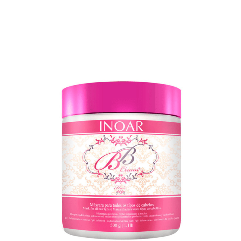 Inoar BB Cream Hair Mask - Máscara de Tratamento 500g