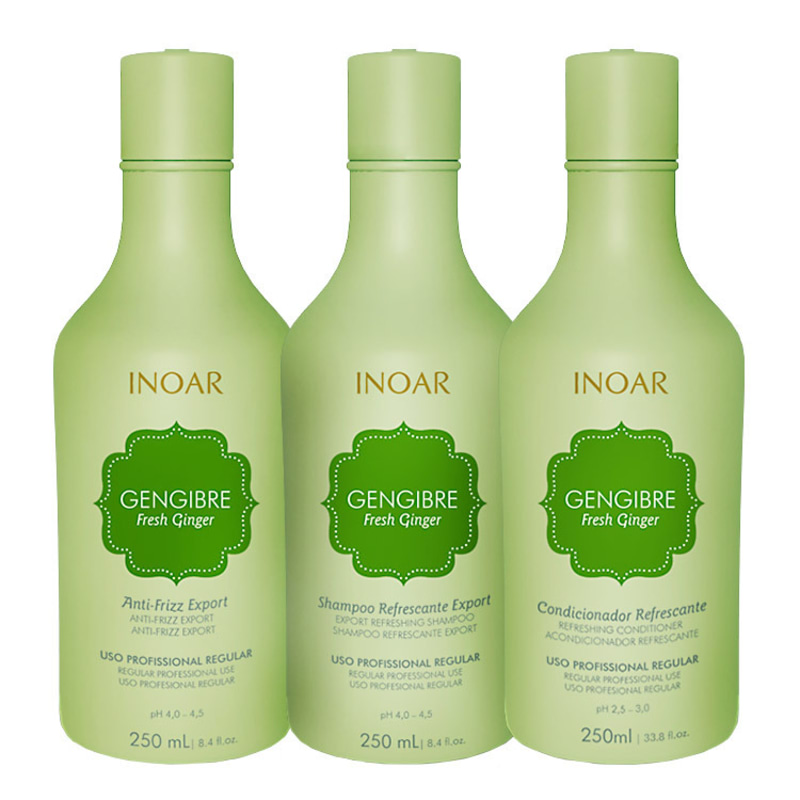Inoar Gengibre Fresh Ginger Trio Care Kit (3 Produtos)