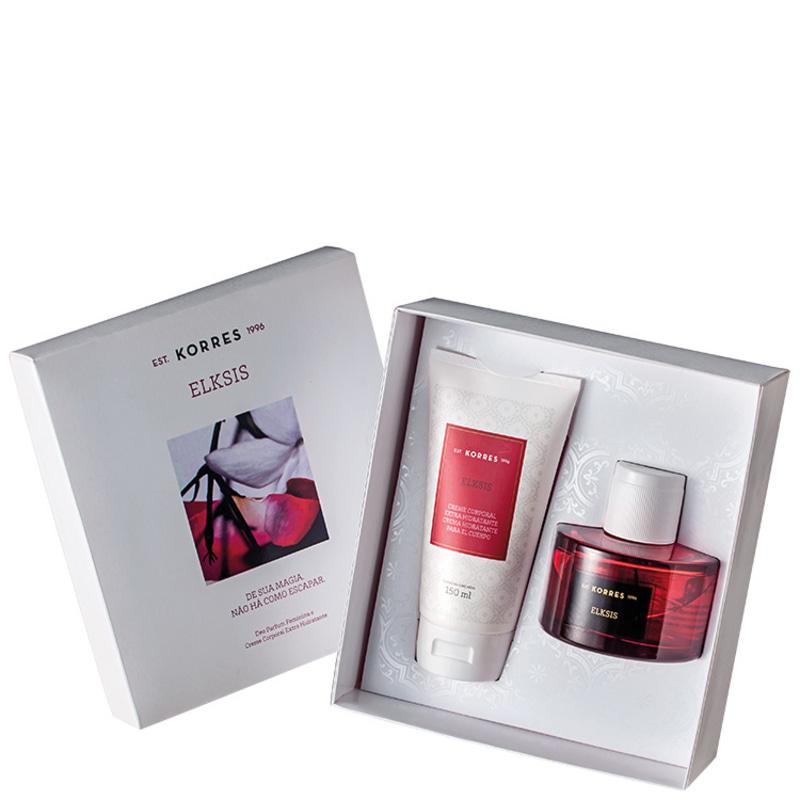 Conjunto Elksis Korres Feminino - Deo Parfum 75ml + Creme Corporal 150ml