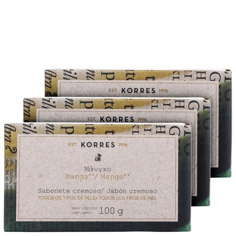 Kit Korres Manga - Sabonetes em Barra 3x100g