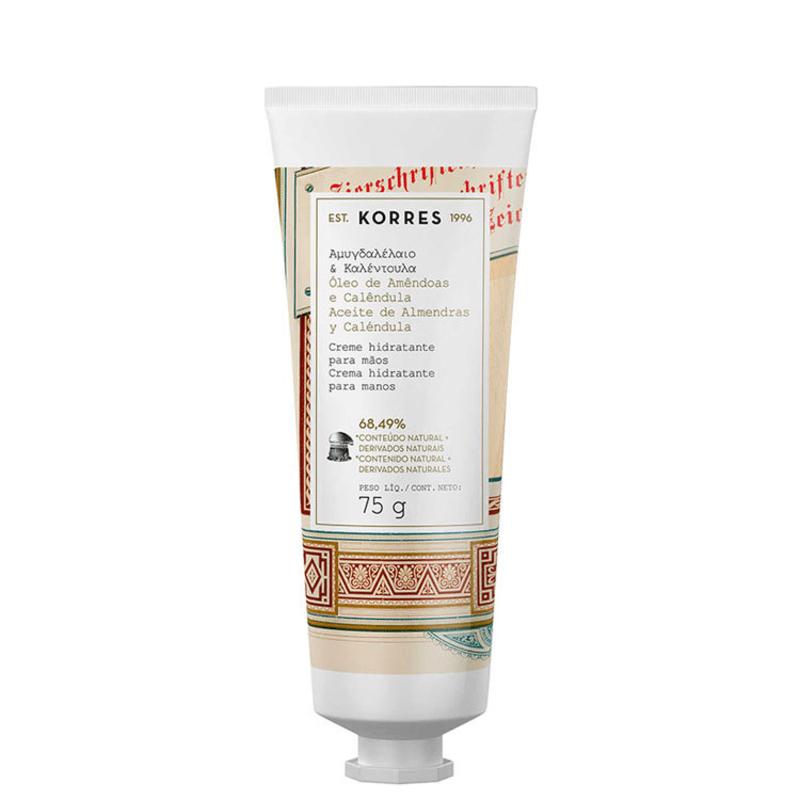 Korres Óleo de Amêndoas e Calêndula - Creme Hidratante para Mãos 75ml