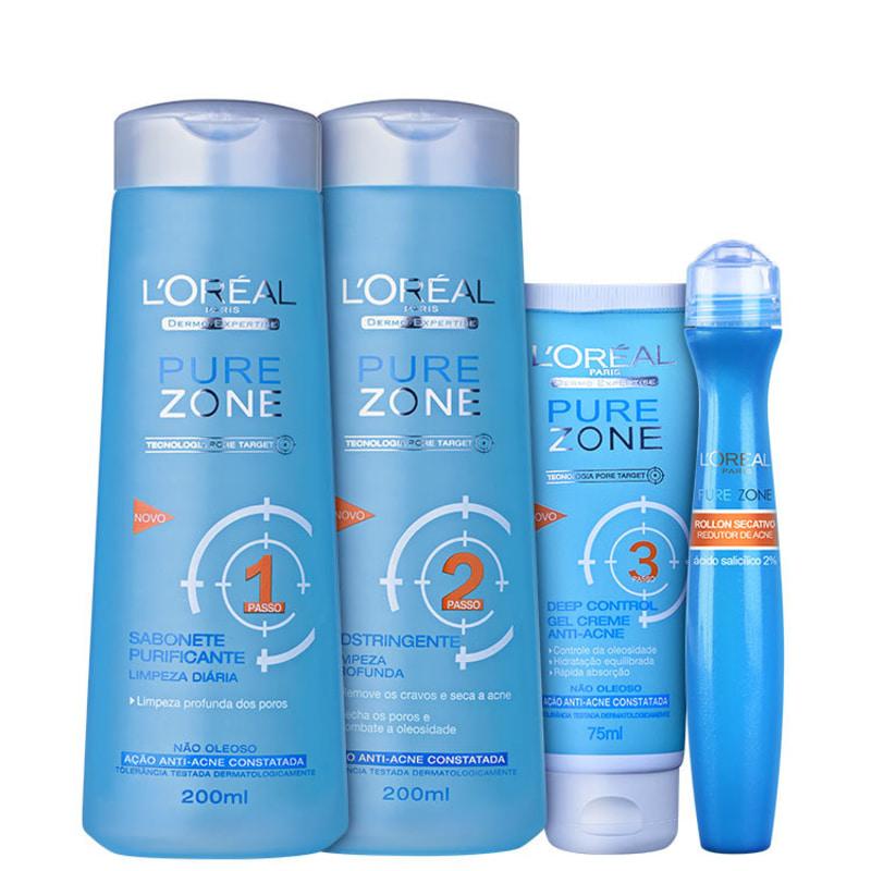 L'Oréal Paris Dermo-Expertise Anti-Acne Full Kit (4 Produtos)