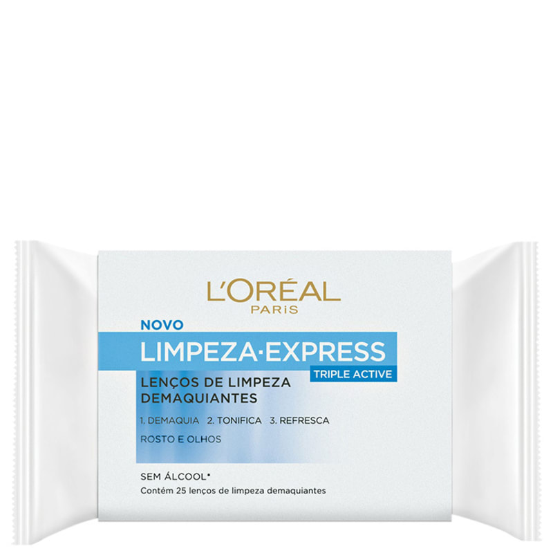 L'Oréal Paris Limpeza Express Dermo-Expertise - Lenço Demaquilante (25 unidades)