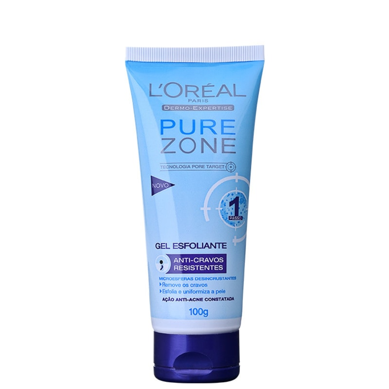 L'Oréal Paris Dermo-Expertise Pure Zone Anti-Cravos Resistentes – Gel Esfoliante 100g