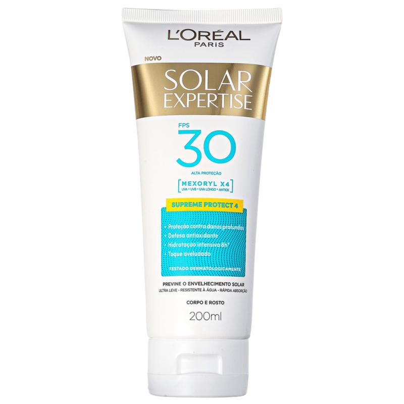 L'Oréal Paris Solar Expertise Supreme Protect 4 FPS 30 - Protetor Solar Facial 200ml