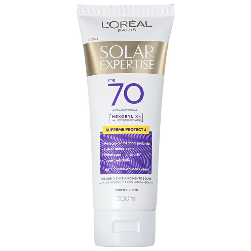 L'Oréal Paris Solar Expertise Supreme Protect 4 FPS 70 - Protetor Solar Facial 200ml
