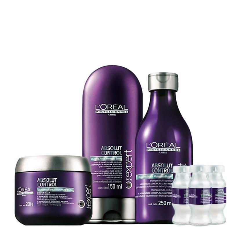 L'Oréal Professionnel Absolut Control Power Treatment Kit (4 Produtos)