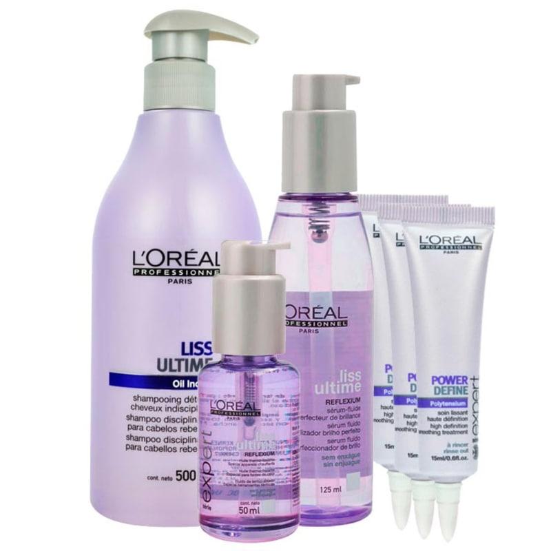 L'Oréal Professionnel Liss Ultime Kit Selagem Térmica (4 Produtos)