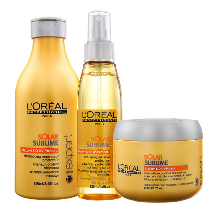 L'Oréal Professionnel Solar Sublime Uv Protection Kit (3 Produtos)