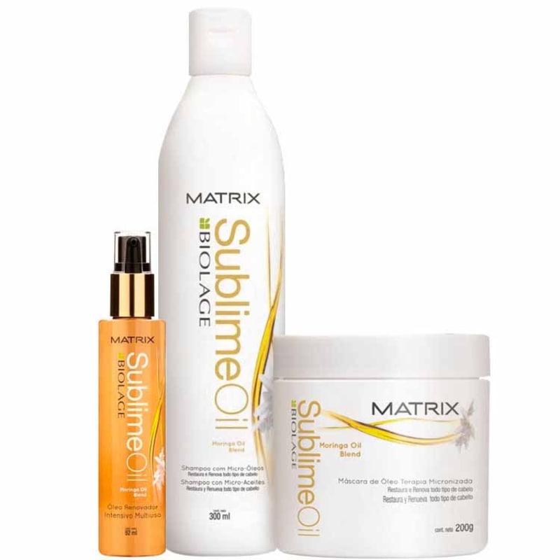 Matrix Biolage Sublime Oil Kit Escova Brilho Sublime (3 Produtos)