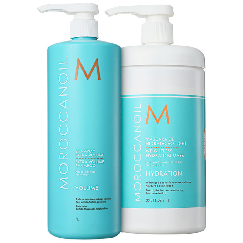 Moroccanoil Extra Volume Duo Kit (2 Produtos)