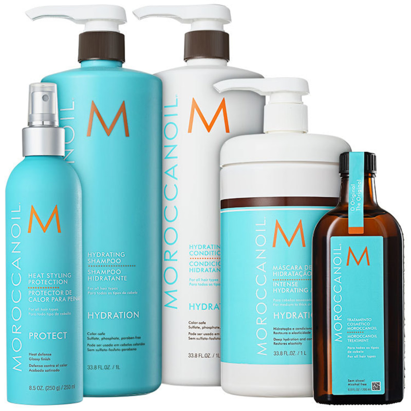 Moroccanoil Hydrating Protection Kit (5 Produtos)