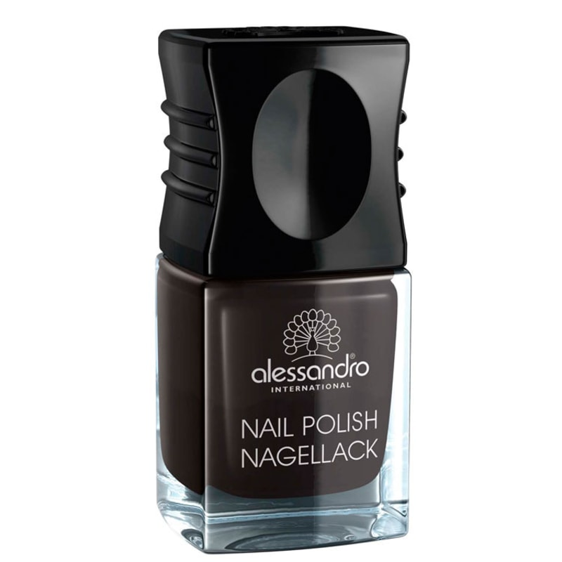 Alessandro International Nail Polish Midnight Black - Esmalte Cremoso 10ml