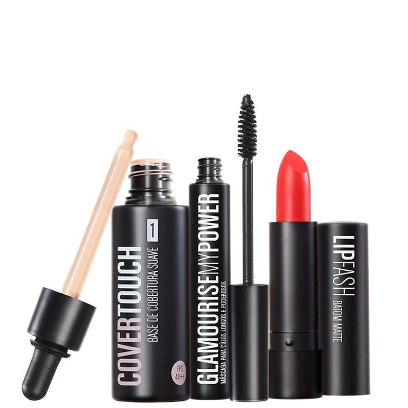 Kit Océane Femme Cover Touch 1 Glamourise Lip Fash Cassandra (3 produtos)