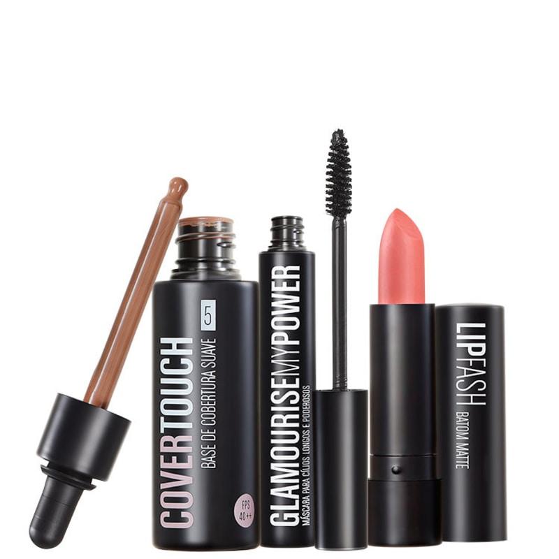 Kit Océane Femme Cover Touch 5 Glamourise Lip Fash Gorgeous Nut (3 produtos)