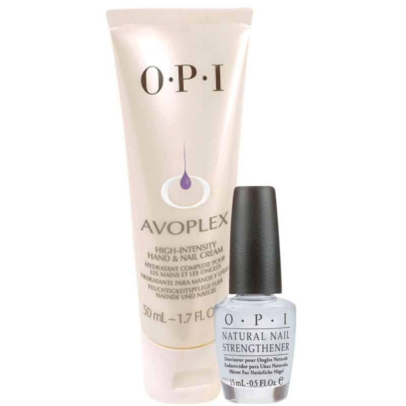 OPI Creme Intensivo Avoplex + Natural Strengthener Kit (2 Produtos)