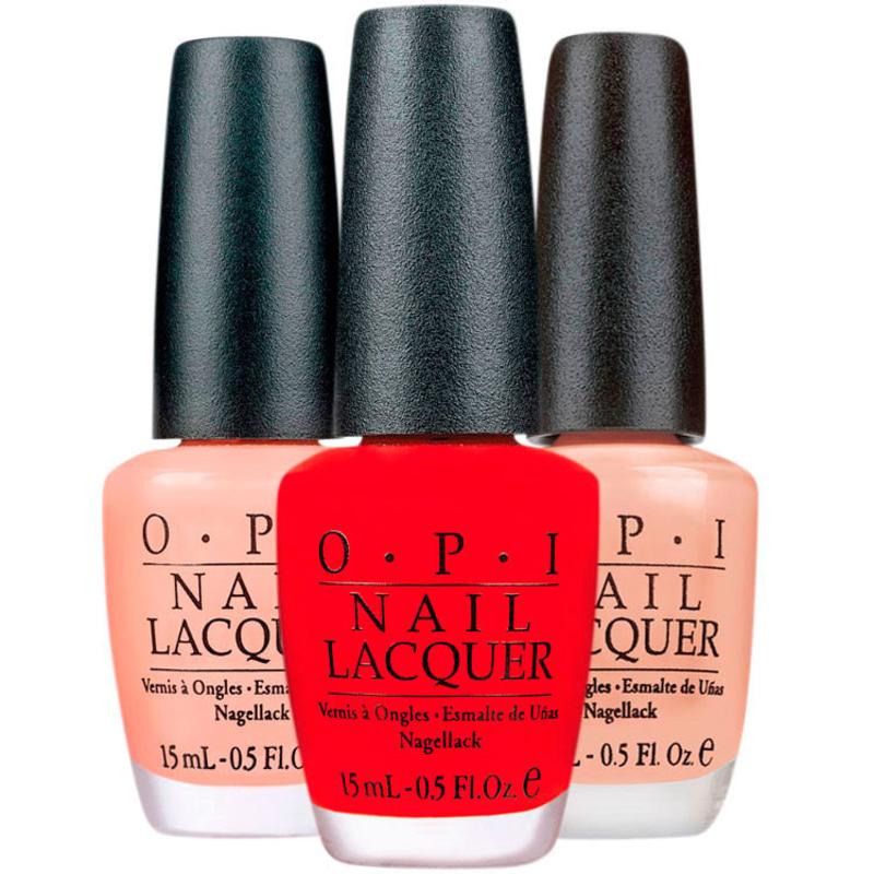 Kit OPI Clássicos Red Dulce Blush de Esmaltes (3 produtos)