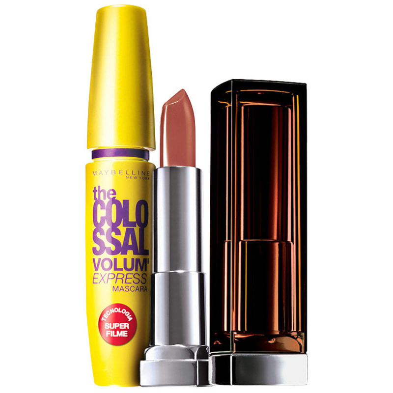 Kit Maybelline Lips and Eyes Make Up Nude (2 produtos)