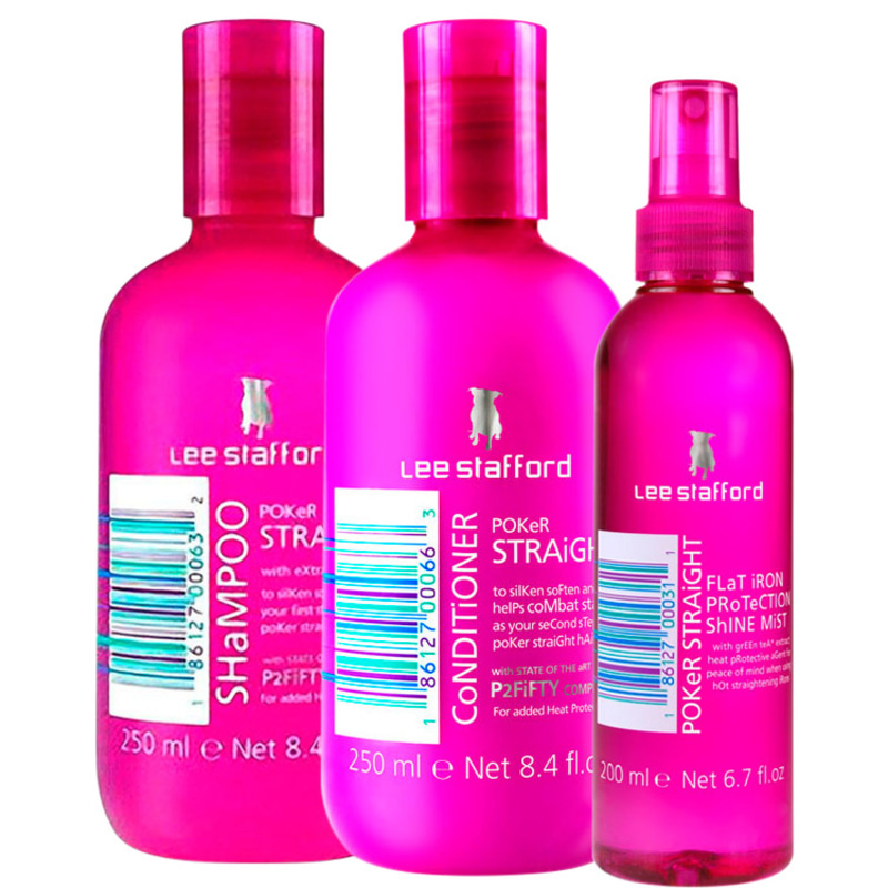 Lee Stafford Poker Straight Cleansing & Protection Kit (3 Produtos)