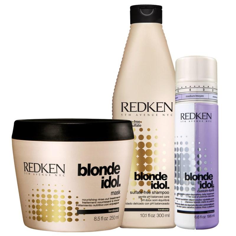 Redken Blonde Idol Color Protection Kit (3 Produtos)