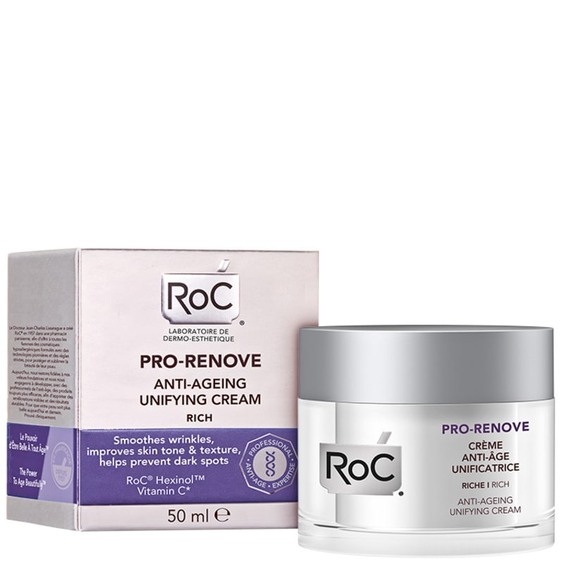 Roc Pro-Renove Anti-Ageing Unifying Cream Rich - Creme Facial Anti-idade 50ml