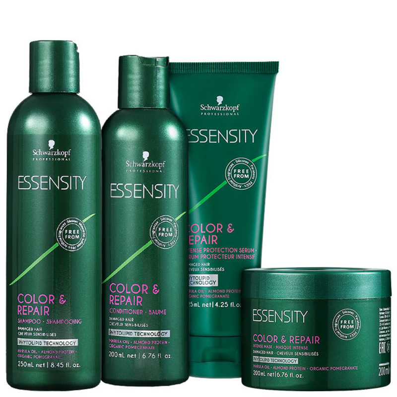 Schwarzkopf Professional Essensity Color & Repair Intense Protection Kit (4 Produtos)