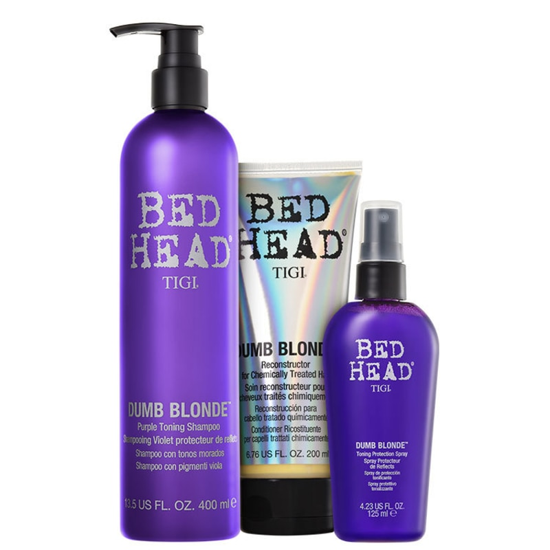 TIGI Bed Head Dumb Blonde Purple Toning Trio Kit (3 Produtos)