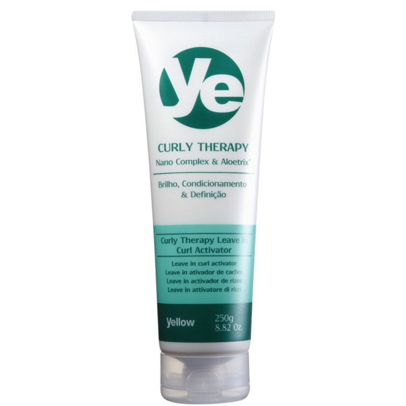 Yellow Curly Therapy Leave In Curl Activator - Leave-In Ativador de Cachos 250ml