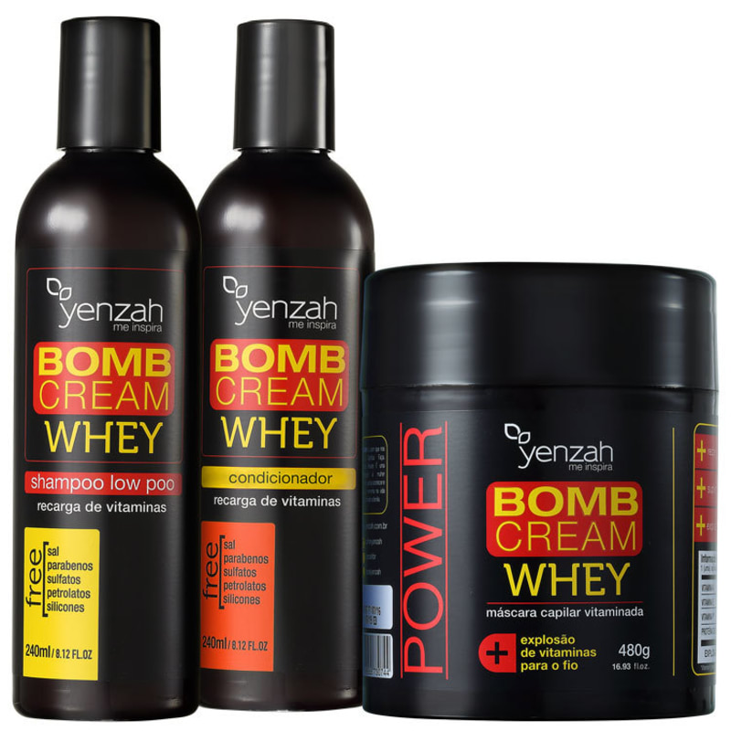Yenzah Whey Bomb Cream Triplo Kit (3 Produtos)