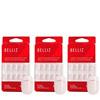 Belliz Unhas Postiças Francesinha Glitter Kit (3 Produtos)