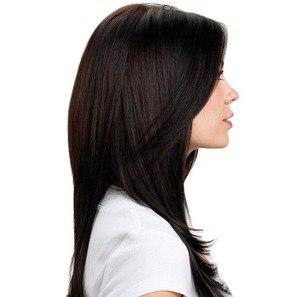 Hairdo Liso Em Camadas - Castanho Super Escuro 63 Cm - Hairdo