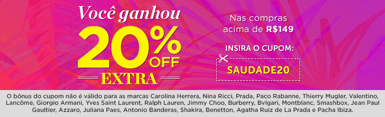20% OFF Exclusivo!