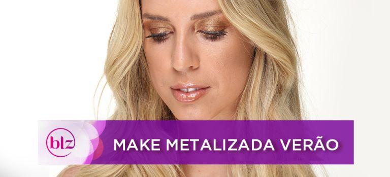 Maquiagem metalizada de verão