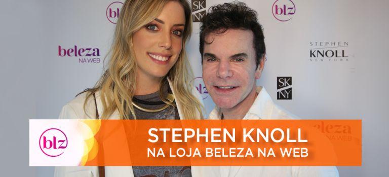 Stephen Knoll & Fabi Justus em encontro na loja Beleza na Web