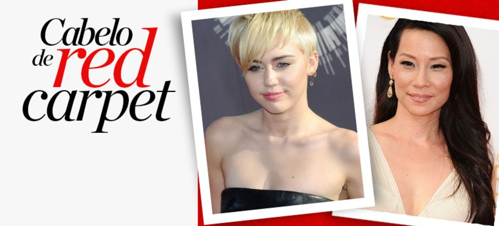 Cabelo de Miley Cyrus e Lucy Liu