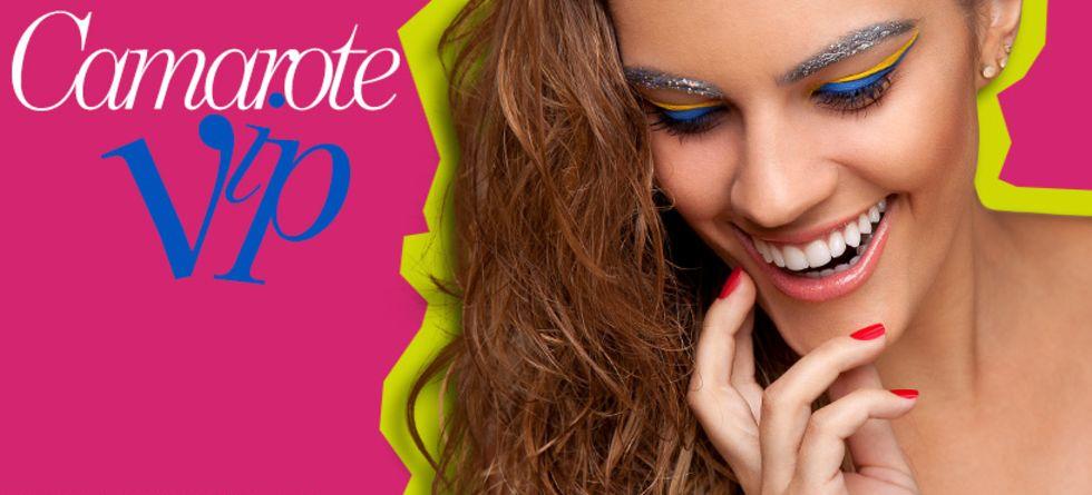 Maquiagem duas cores para Carnaval