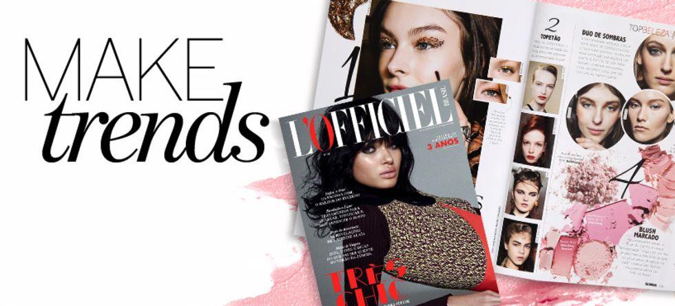 Novidades de maquiagem nas revistas de junho