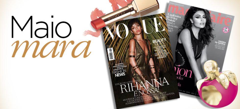 Produtos de beleza das revistas de maio