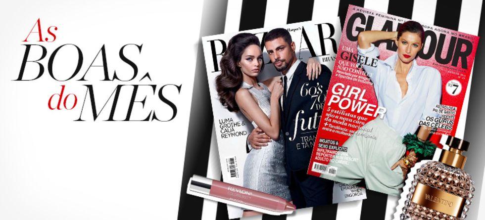 Tendências de beleza nas revistas